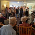 ECMVC take the weekly rehearsal session to Canal Vue care home